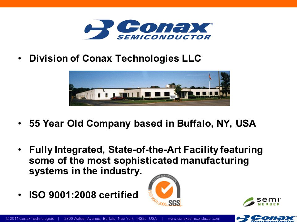 2011 Conax Technologies | 2300 Walden Avenue, Buffalo, New York USA