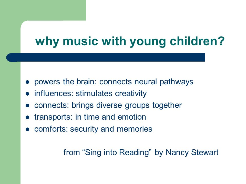 why music with young children.