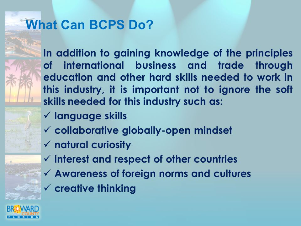 What Can BCPS Do.
