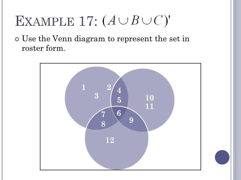 S Ection 15 Venn Diagrams And Set Operations O Bjectives