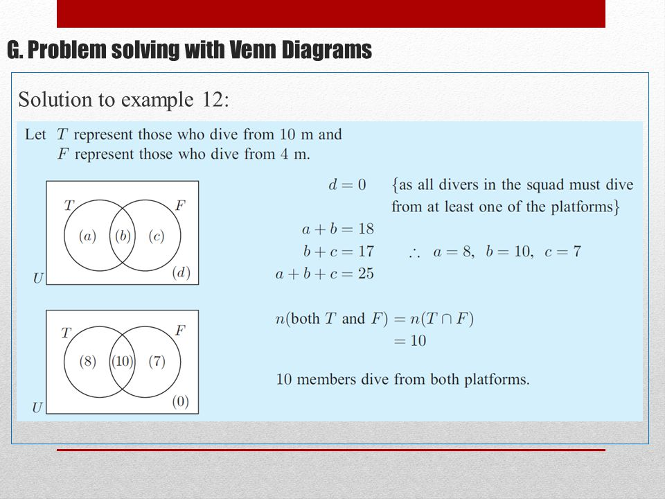 51 g problem solving with venn diagrams solution to example 12