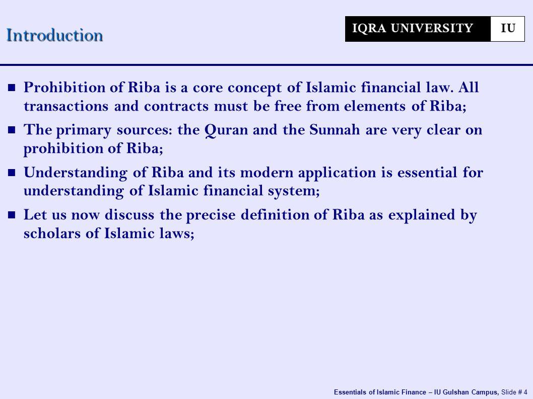 4 Essentials Of Islamic Finance Iu Gulshan Campus Slide 3 Riba And Its Explanation