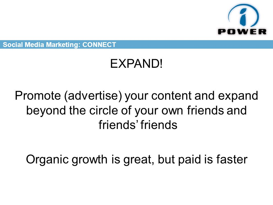 Social Media Marketing: CONNECT EXPAND.