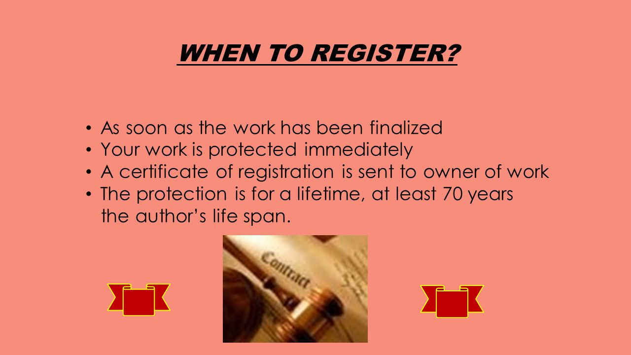 WHEN TO REGISTER.
