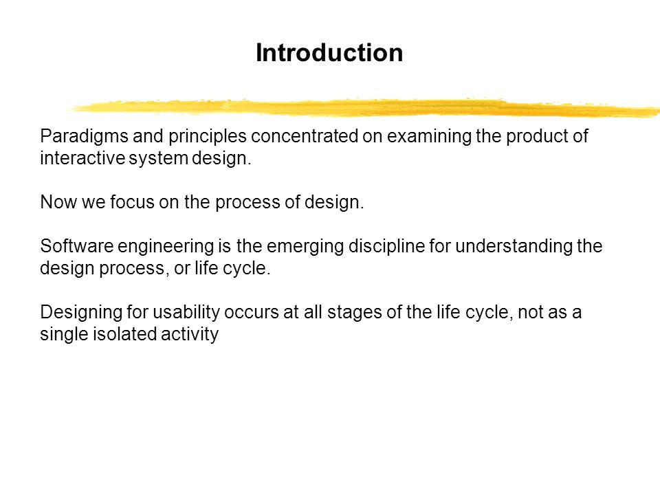 The Design Process Z Software Engineering And The Design Process For Interactive Systems Z Standards And Guidelines As Design Rules Z Usability Engineering Ppt Download