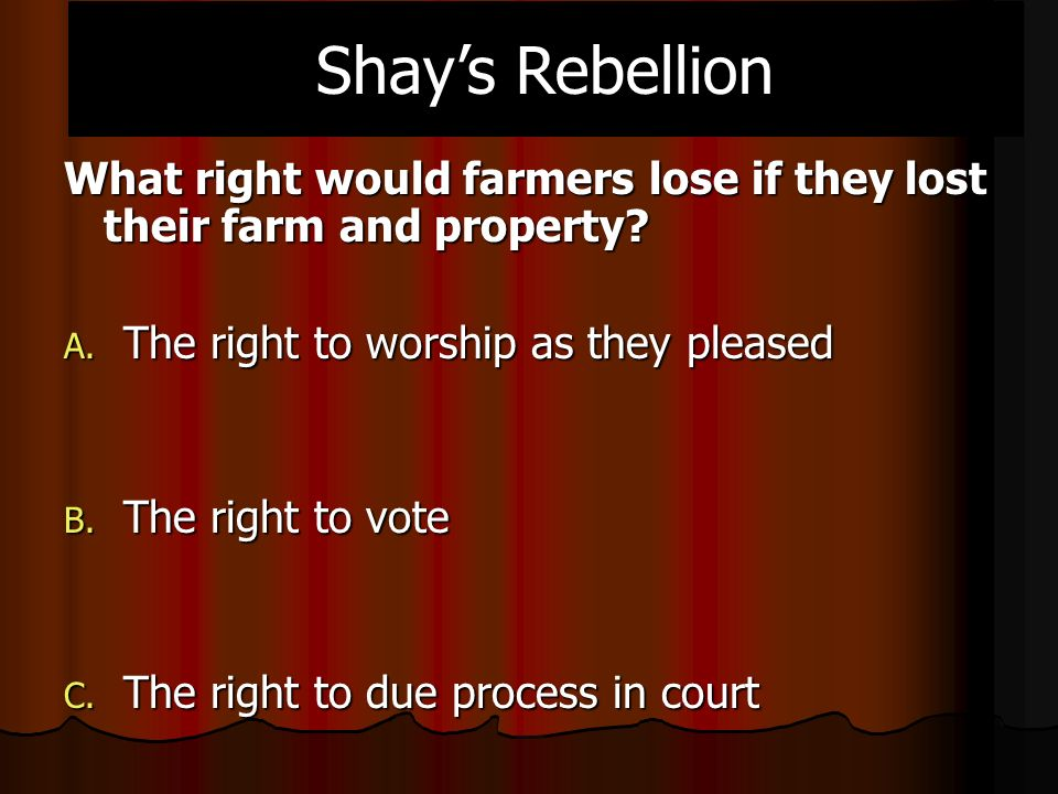 What right would farmers lose if they lost their farm and property.