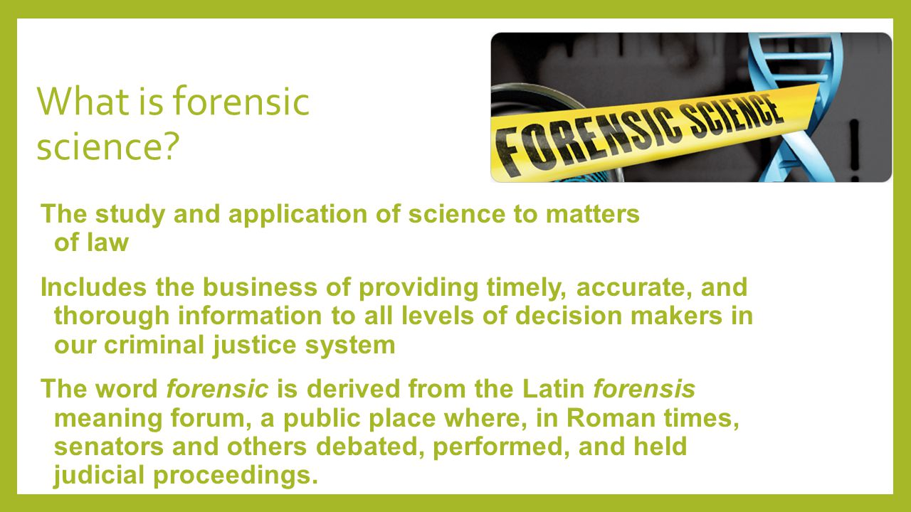 forensic science careers