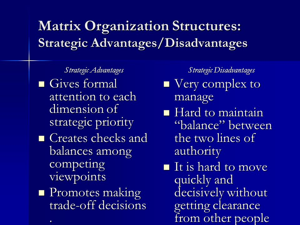 grand strategy matrix advantages and disadvantages Often the hardest part of marketing is gaining a foothold for your product or service in this lesson, you'll learn about market penetration and some of its advantages and disadvantages.