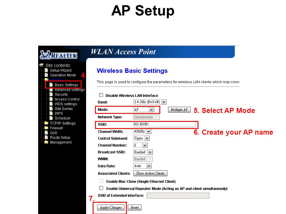 AP (Access Point) Client Operation Mode : Bridge Mode: AP IP
