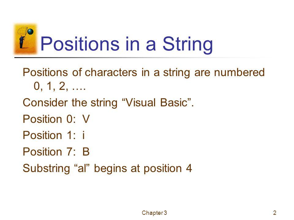Chapter 31 Fundamentals of Programming in Visual Basic