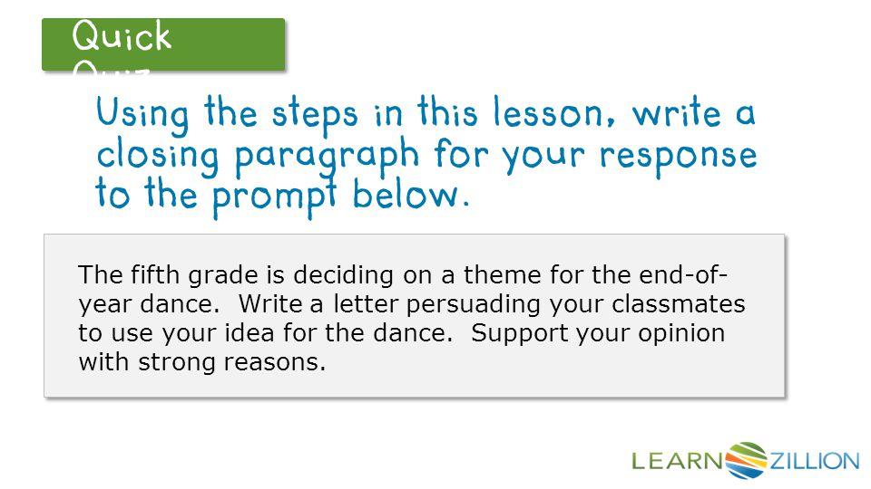 how to write a closing