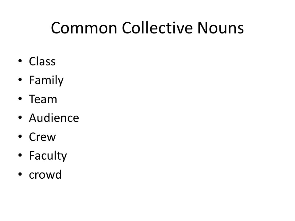 Subjectverb Agreement Rules 1 Singular Collective Nouns A Group