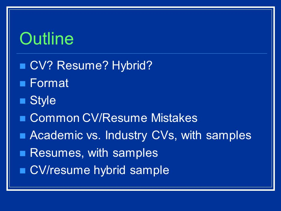 The Scientists Conundrum Cv Resume Or Something In Between Laura