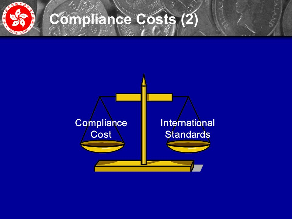 31 International Standards Compliance Cost Compliance Costs (2)