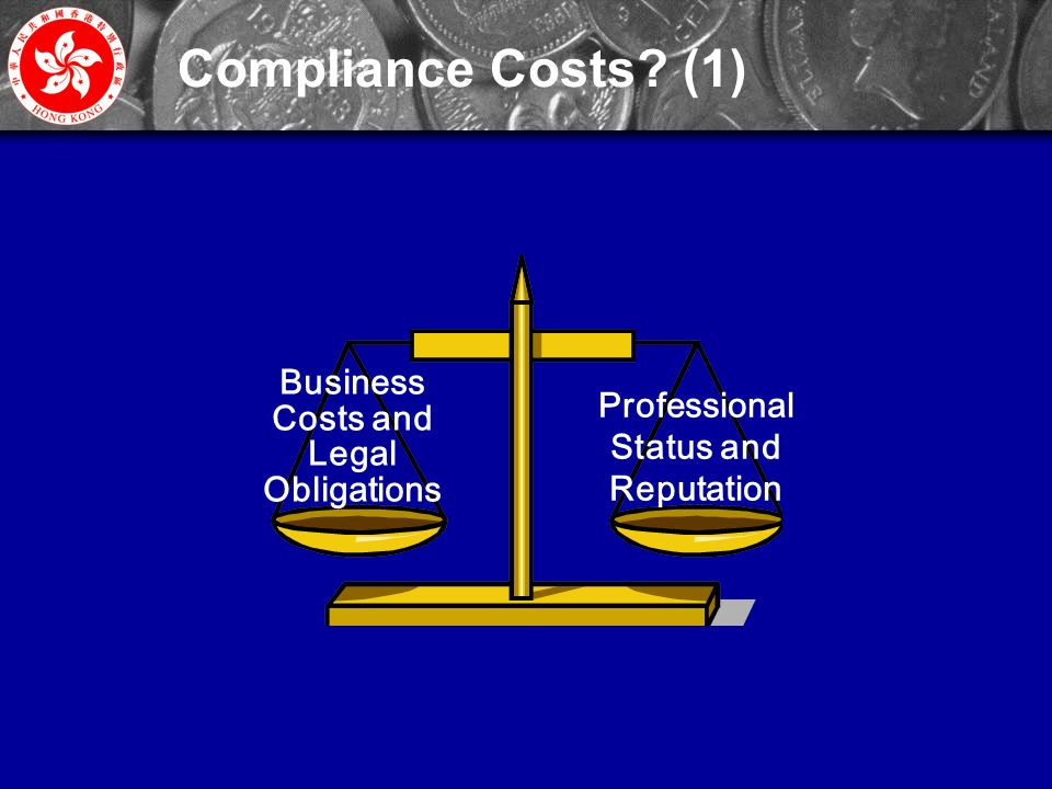 32 Professional Status and Reputation Business Costs and Legal Obligations Compliance Costs (1)