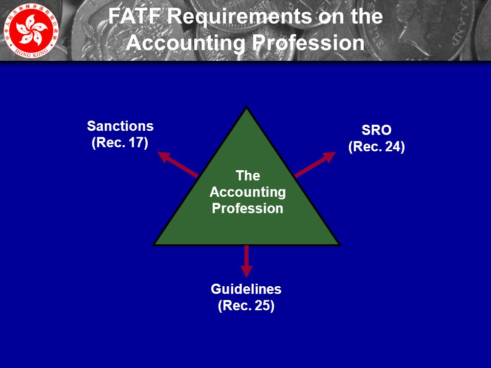 9 FATF Requirements on the Accounting Profession The Accounting Profession Sanctions (Rec.