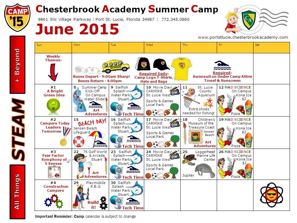 C Hesterbrook A Cademy S Ummer C Amp June 2015 Camper Calendar