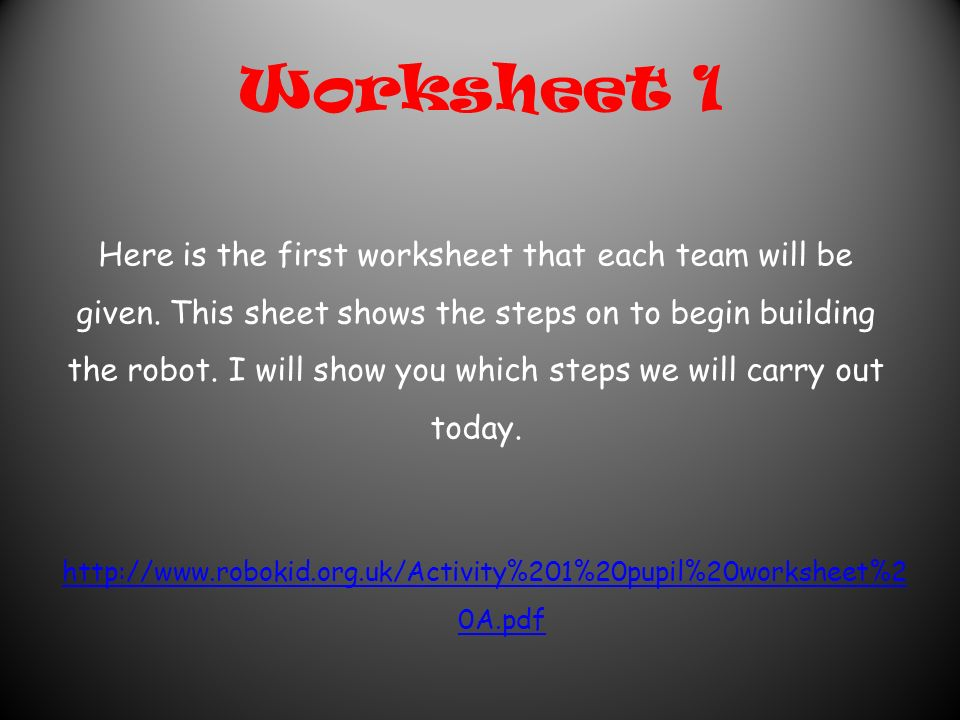 10 Worksheet Robotics Science Technology Project