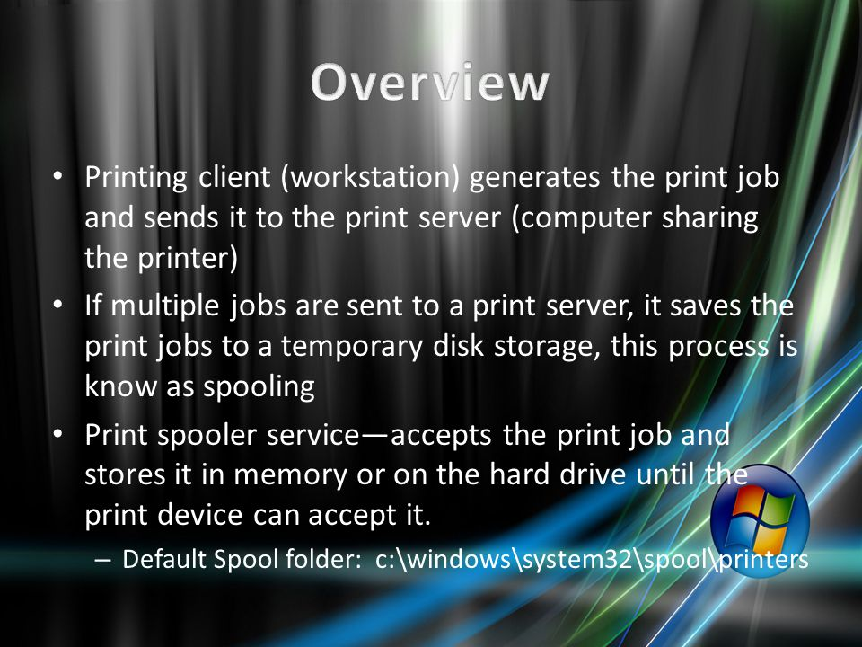 Overview Print and Document Services Print Management