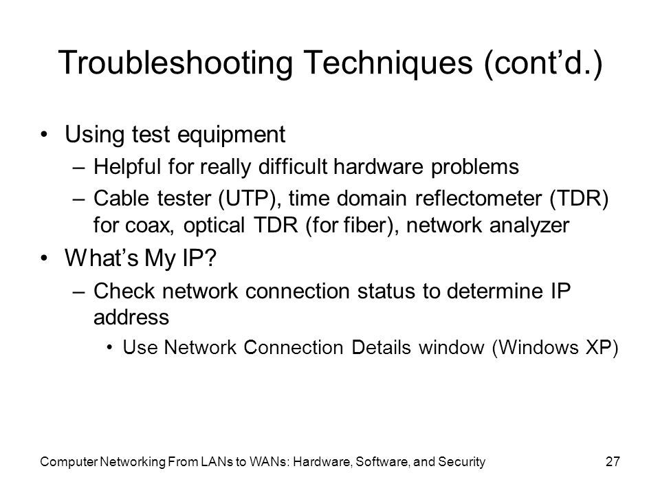 Computer Networking From LANs to WANs: Hardware, Software