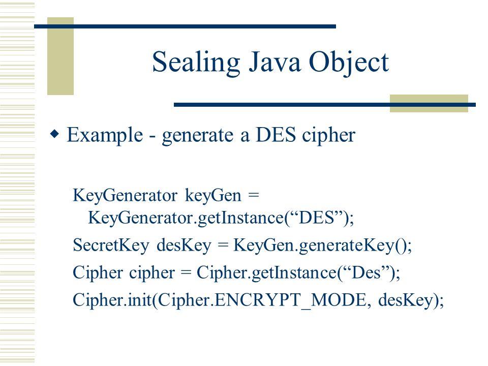 secret key generation in java