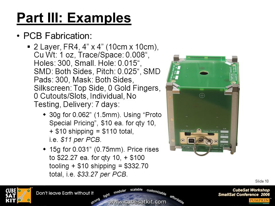 Slide 1 Designing for Success: Choosing CubeSat Components Wisely