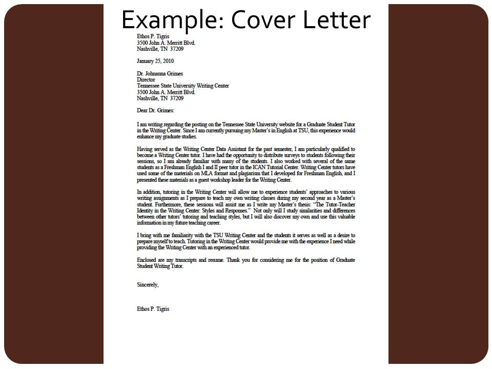 Writing Cover Letters. How should I format my cover letter ...