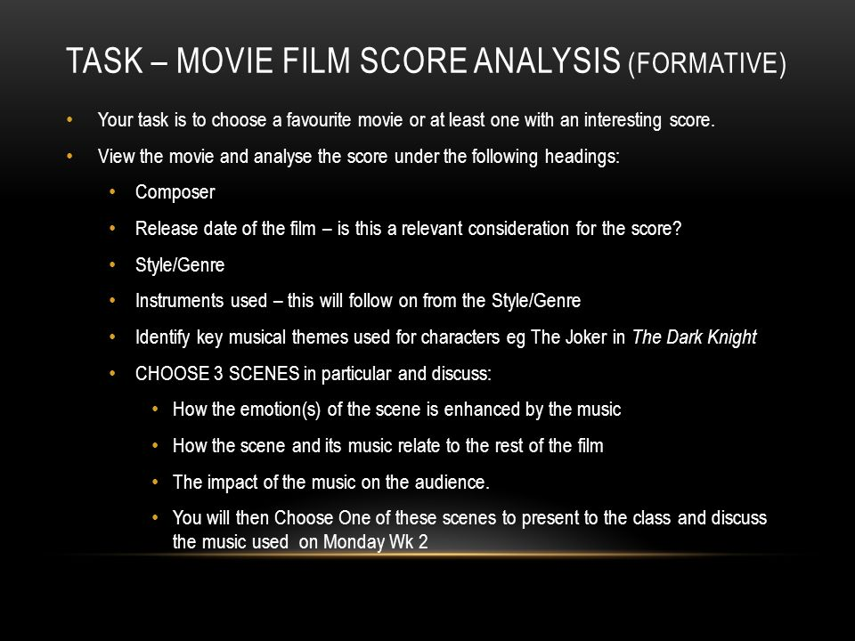 film score analysis