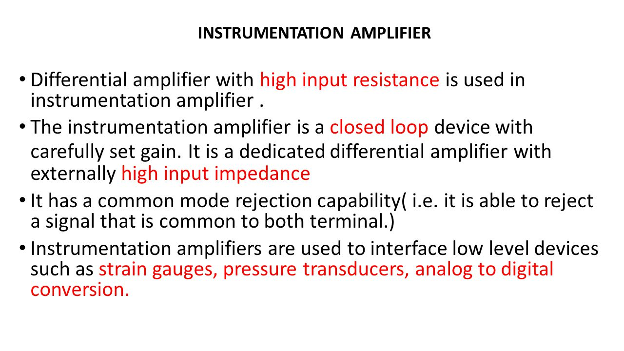 Differential Amplifier With High Input Resistance Is Used In Instrumentation Circuit Diagram 2