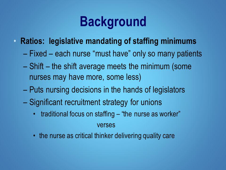 Man dating nurse to patient ratios legislation