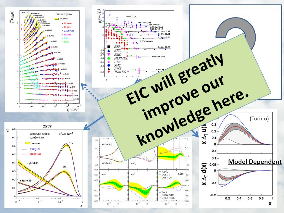 f1, g1, h1 EIC Meeting at CUA, July 29-31, 2010 (Torino) Model Dependent EIC will greatly improve our knowledge here.