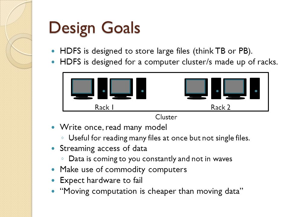 The Hadoop Distributed File System Architecture And Design By Dhruba Borthakur Presented By Bryant Yao Ppt Download
