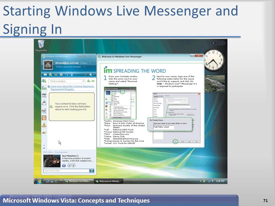 Microsoft Windows Vista Chapter 4 Personal Information