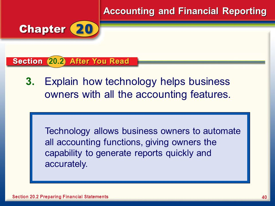 Accounting and Financial Reporting 40 3.