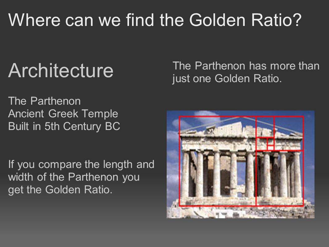 Where can we find the Golden Ratio.