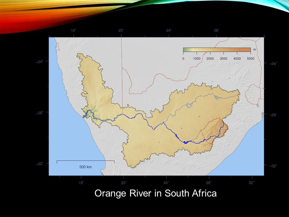 Orange River in South Africa