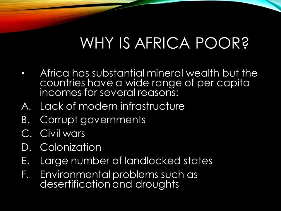 WHY IS AFRICA POOR.