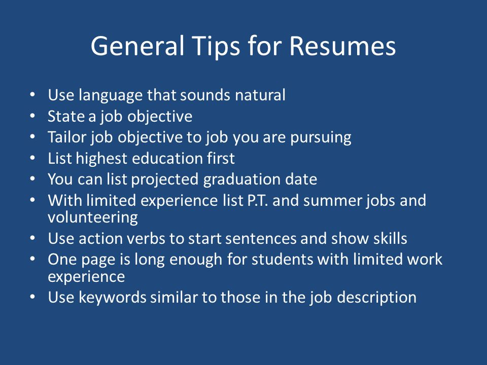 Chapter 5 Effective Strategies to Get the Job You Want: Resumes and ...