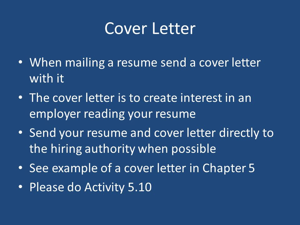 Chapter 5 Effective Strategies To Get The Job You Want Resumes And