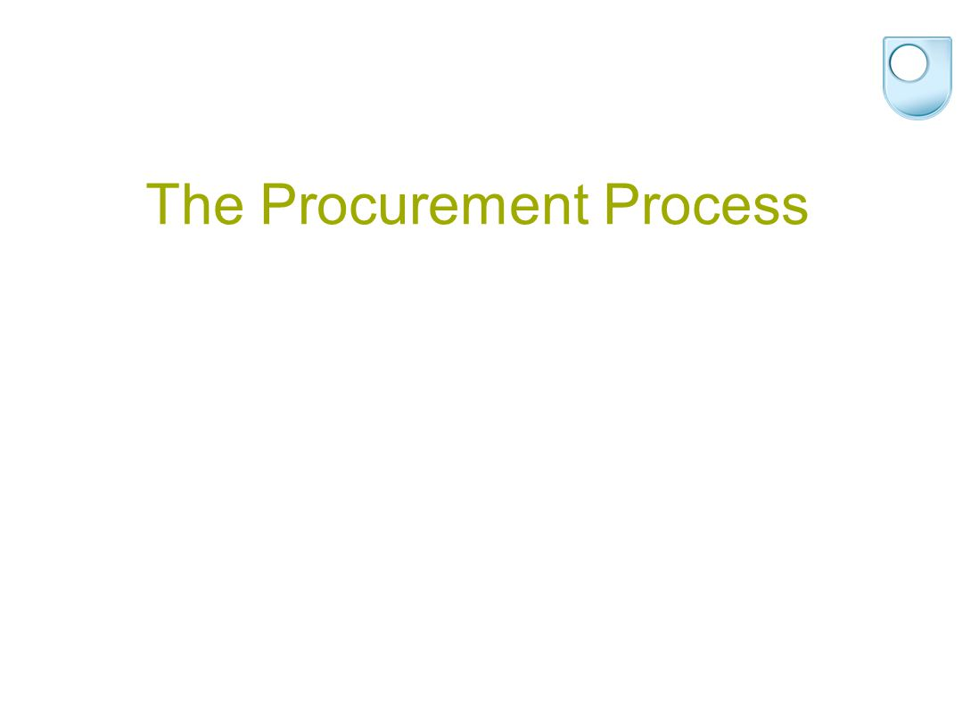 The Procurement Process