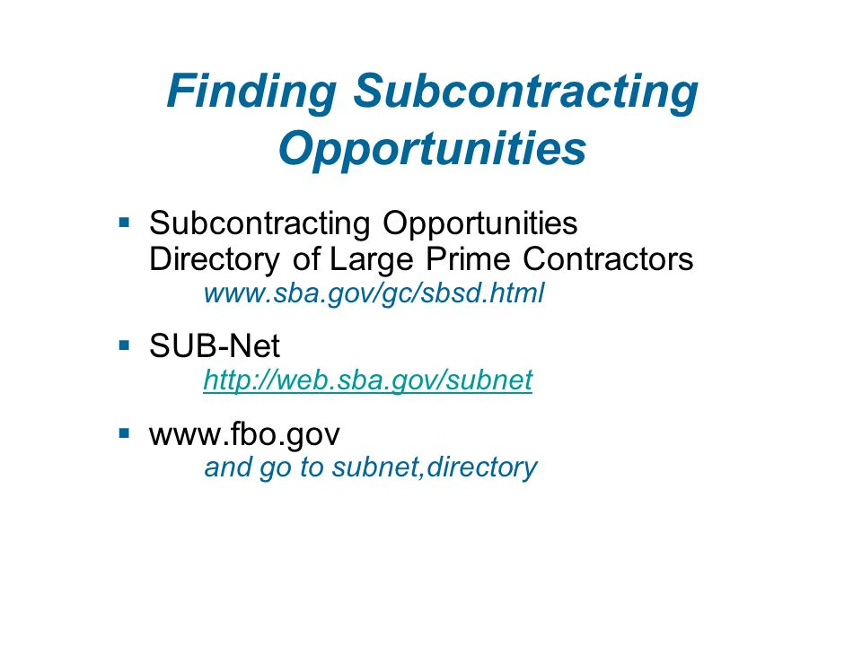FedBizOpps Identify Opportunities – Follow the Money   or