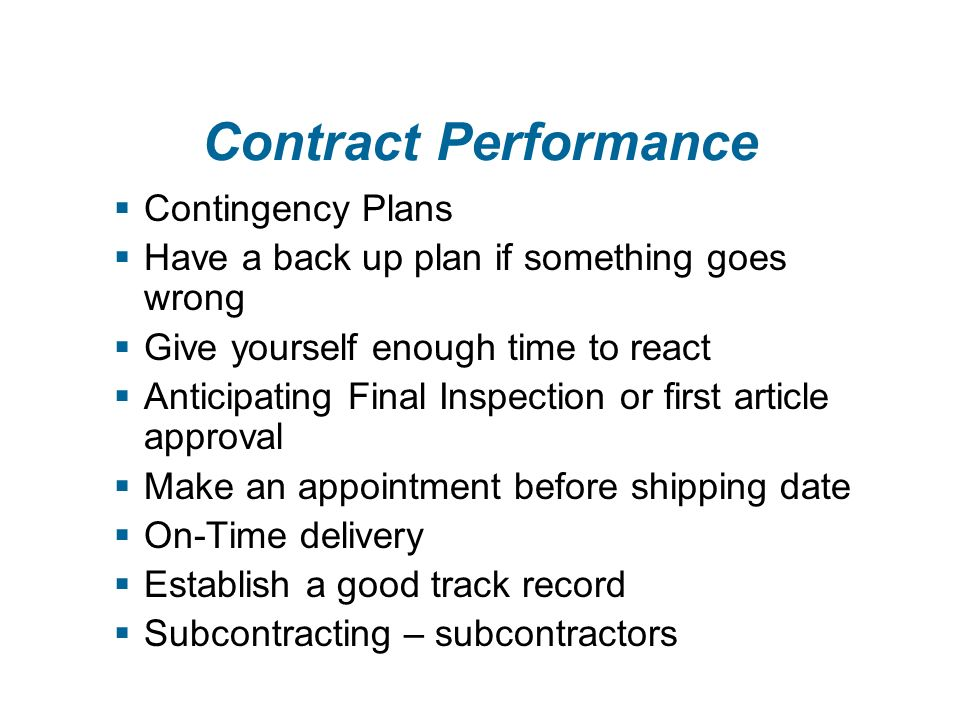 Contract Proposal  Are you responsive - non-responsive.