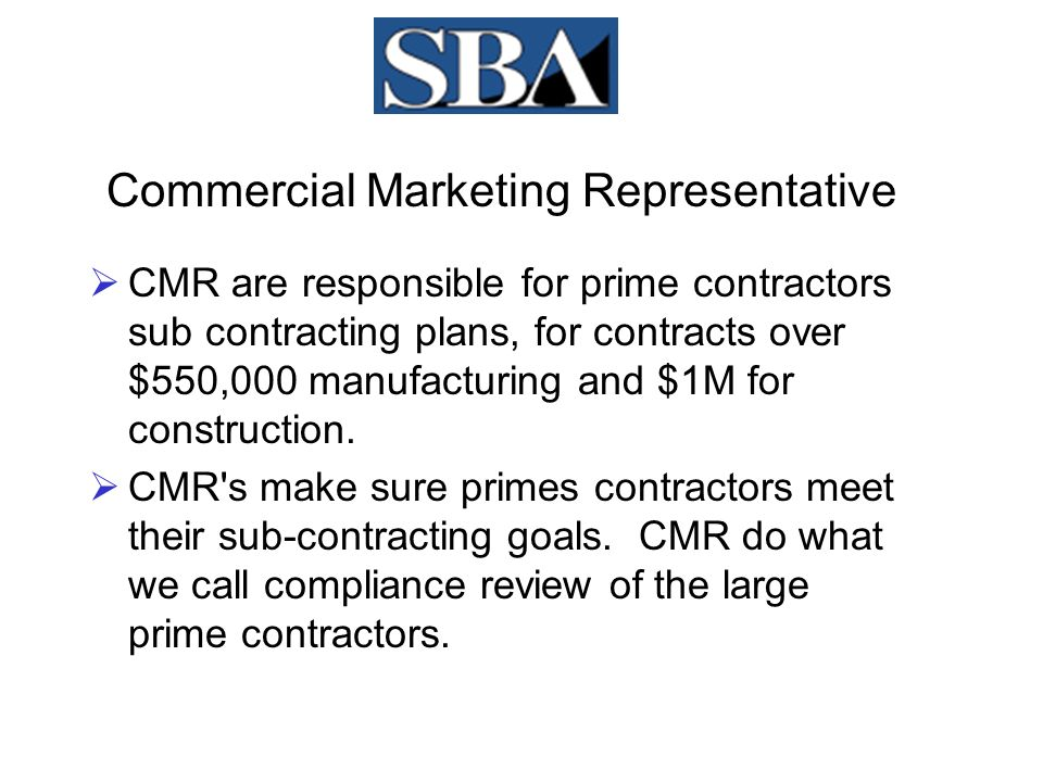 Certificate of Competency  SBA's Industricial Specialist (IS), conducts a complete analyses of the small business to see if the contracting officer is correct in his/her assessment of the firm.