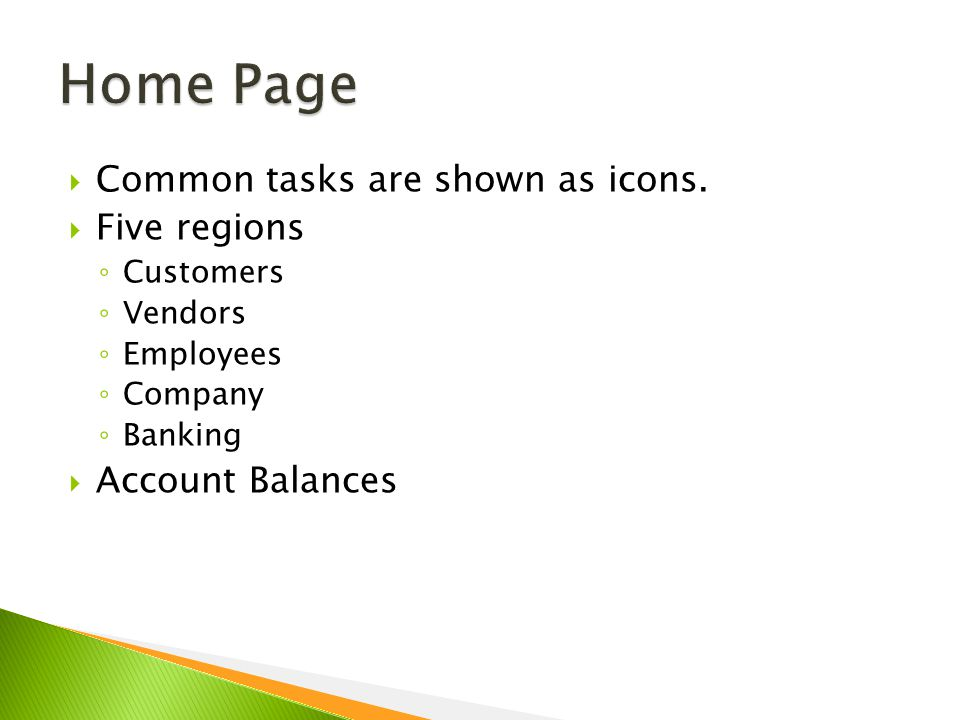  Common tasks are shown as icons.