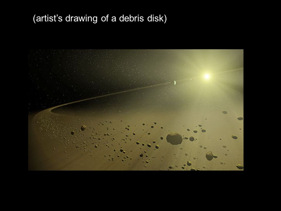 (artist's drawing of a debris disk)