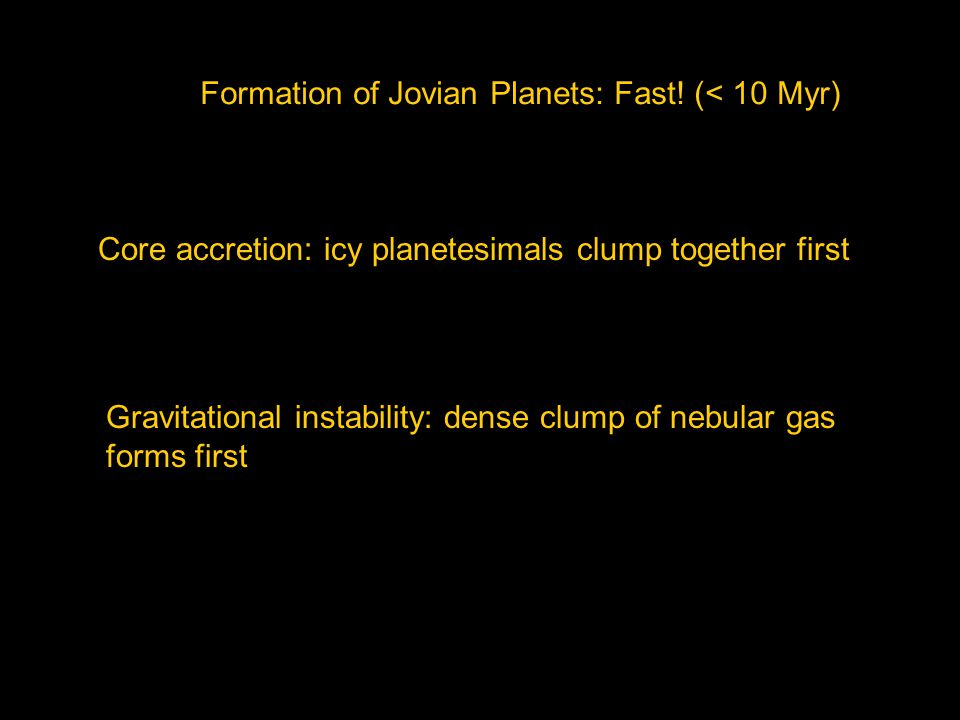 Formation of Jovian Planets: Fast.
