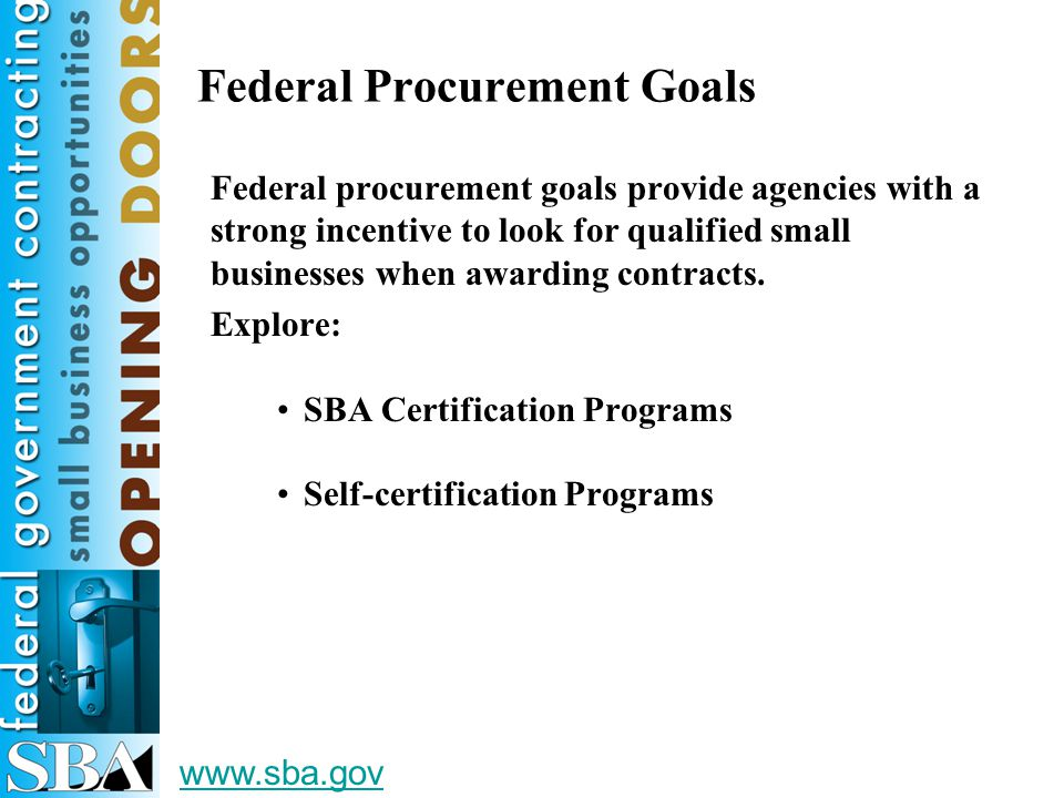 Traditional Procurement Programs Full And Open Competition