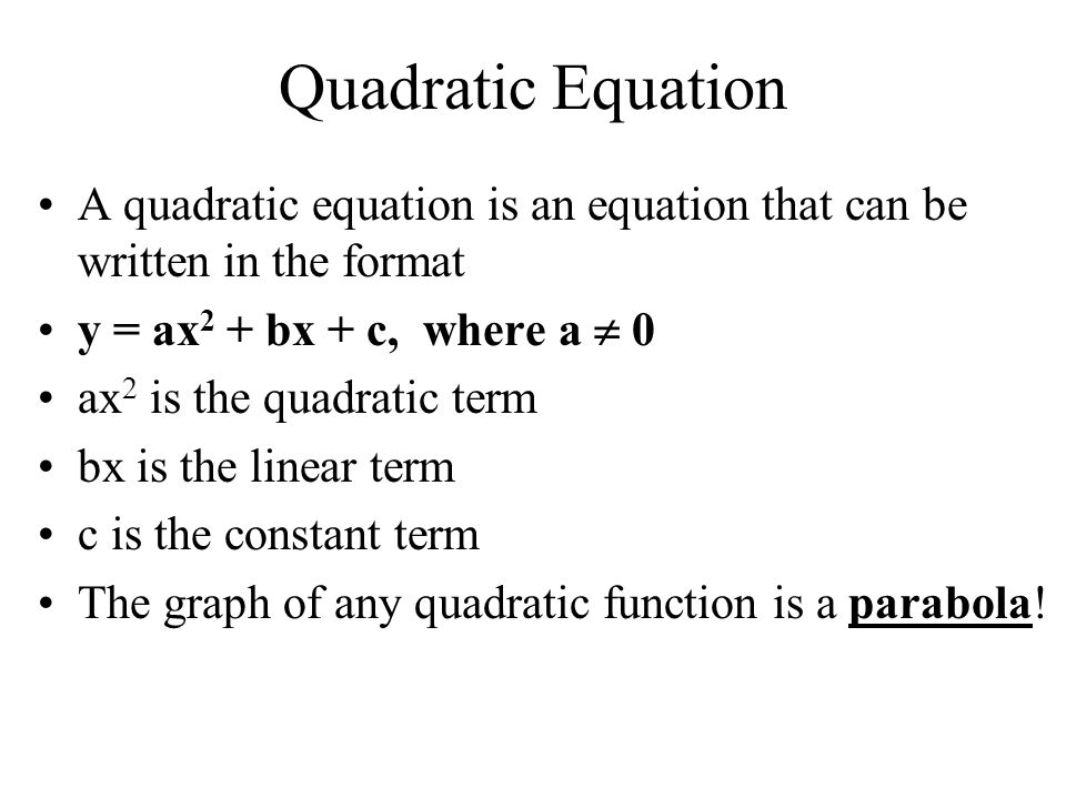 Chapter 4 Section 4-1 Solving Quadratic Equations in