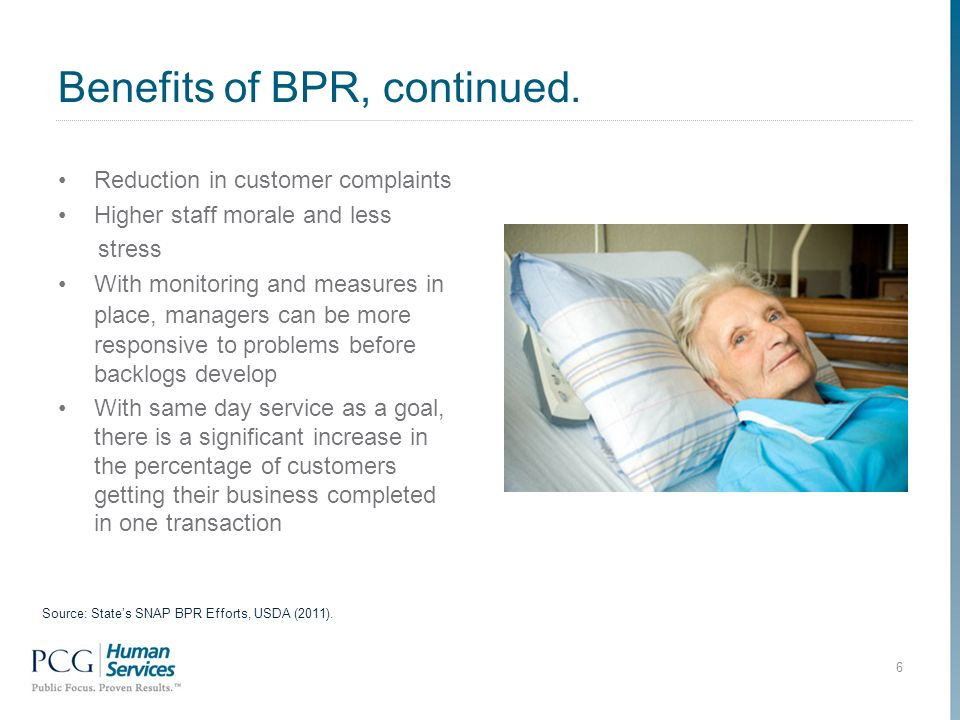 Benefits of BPR, continued.