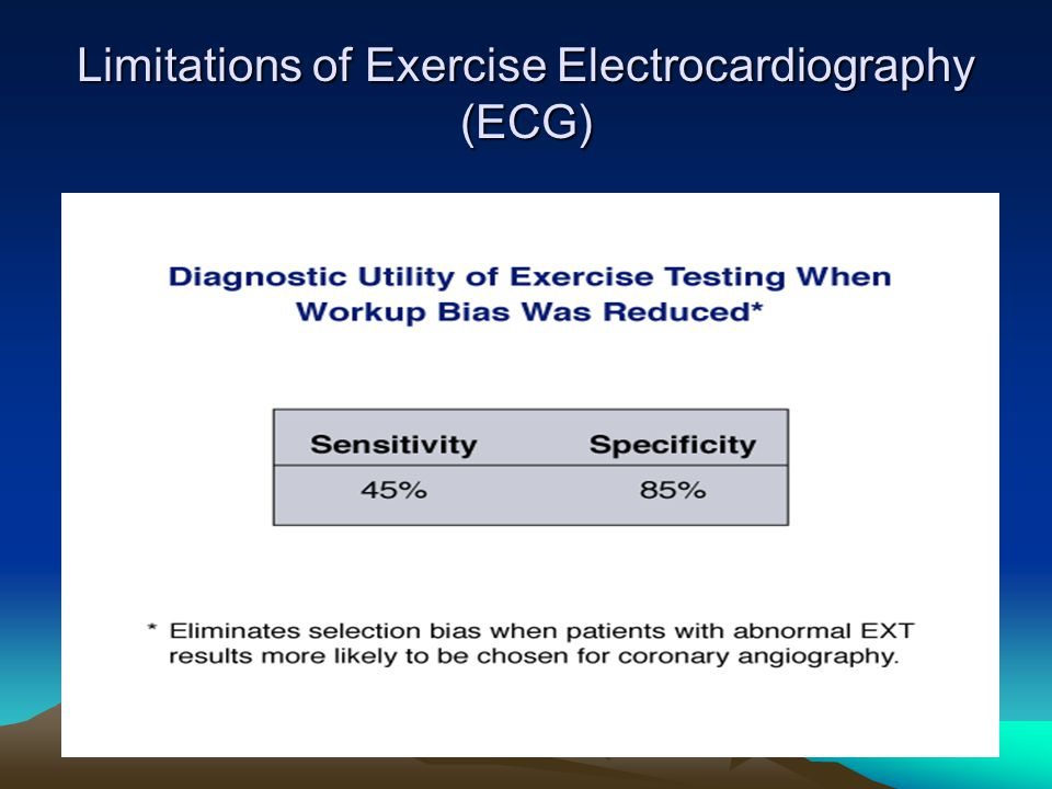 Limitations of Exercise Electrocardiography (ECG)